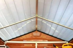 Palram Skylight 6' and 4' Fronted Apex Plastic Garden Shed - Roof and Air Vents