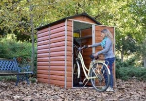 Palram Skylight 6' and 4' Fronted Apex Plastic Garden Shed - Storge Bike