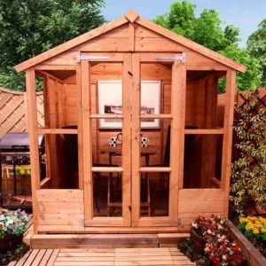 The BillyOh 4000 Tete a Tete Summerhouse Range Front View