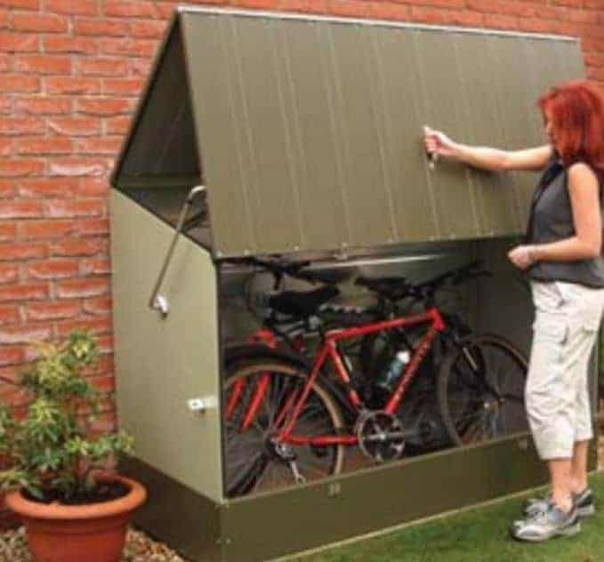 Trimetals Metal Bicycle Store Bike Shed & Trimetals Metal Bicycle Store Bike Shed - What Shed