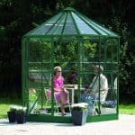 Vitavia Hera 4500 Green Framed Hexagonal Greenhouse