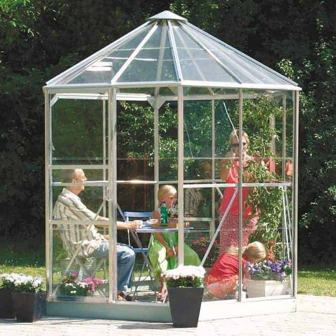Vitavia Hera 4500 Silver Framed Hexagonal Greenhouse