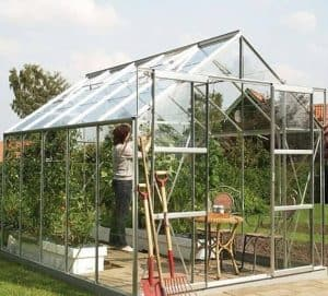 Vitavia Jupiter 8300 Silver Framed Greenhouse