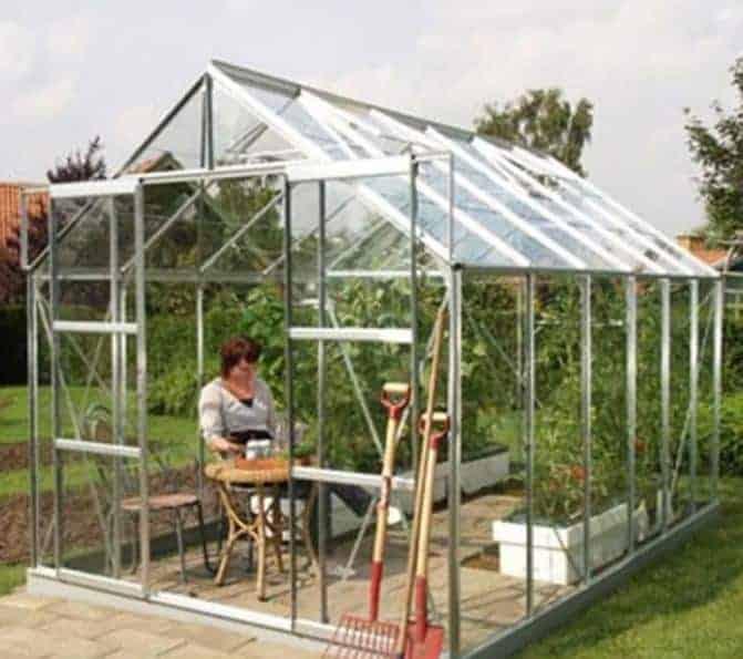 Vitavia Jupiter 9900 Silver Framed Greenhouse