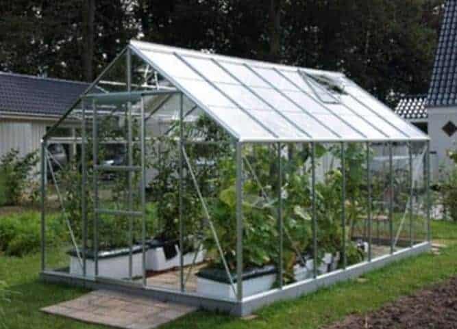 Vitavia Neptune 11500 Silver Framed Greenhouse