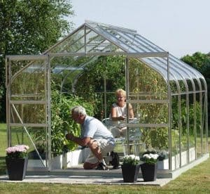 Vitavia Saturn 8300 Silver Framed Greenhouse