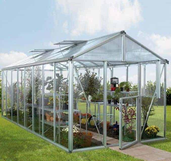 Vitavia Zeus Silver Framed Greenhouse