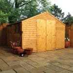 10 x 10 Waltons Overlap Apex Modular Garden Workshop Close Doors