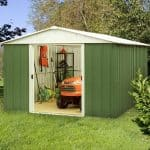 10' x 10' Yardmaster Green Metal Shed 1010GEYZ
