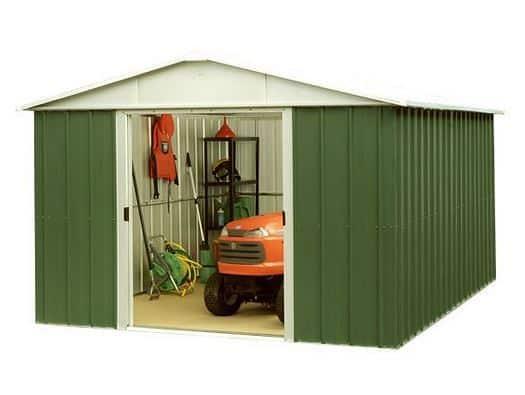 10 x 13 Yardmaster 1013GEYZ Apex Metal Garden Shed