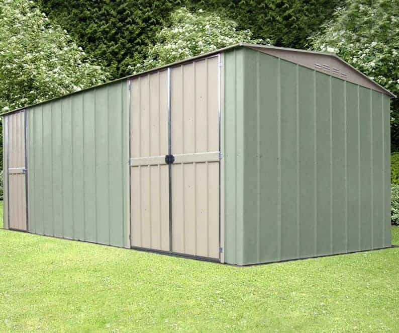 10' x 15' Shed Baron Grandale Utility Metal Garage