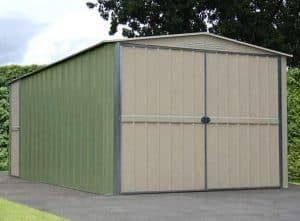 10 x 15 Store More Canberra Ten Apex Metal Shed Closed Doors