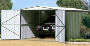 10 x 15 Store More Canberra Ten Apex Metal Shed Open Doors