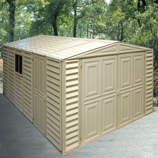 10 x 16 StoreMore DuraMax Steel Framed Vinyl Clad Apex Metal Garage ...