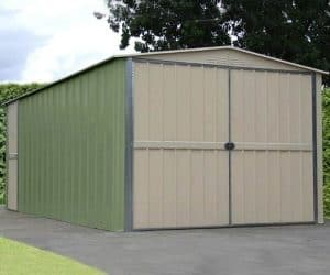10' x 17' Shed Baron Grandale Utility Metal Garage