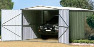 10 x 17 Store More Canberra Apex Metal Garage Double Doors