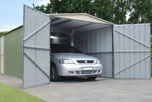 10 x 17 Store More Canberra Apex Metal Garage Open Doors