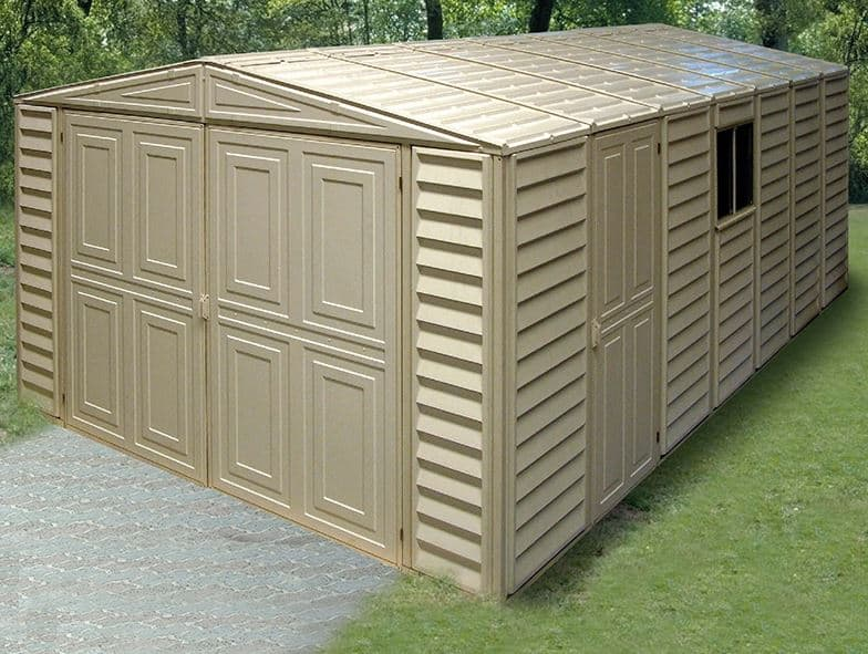10 X 18 Duramax Vdm Plastic Garage What Shed