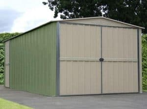 10 x 19 Store More Canberra Apex Metal Garage Closed Door