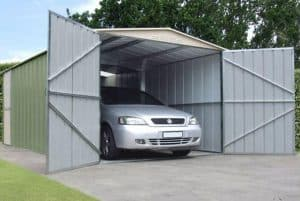 10 x 19 Store More Canberra Apex Metal Garage Open Door