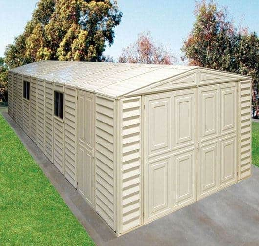 10 x 23 StoreMore DuraMax Steel Framed Vinyl Clad Apex Metal Garage ...