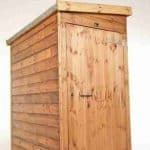 10' x 3' Traditional Pent Tool Store Shed Closed Door