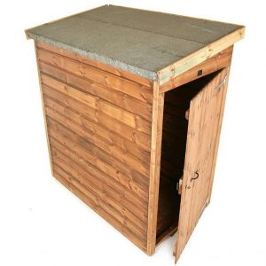 10' x 4' Traditional Pent Tool Store Shed Overall View