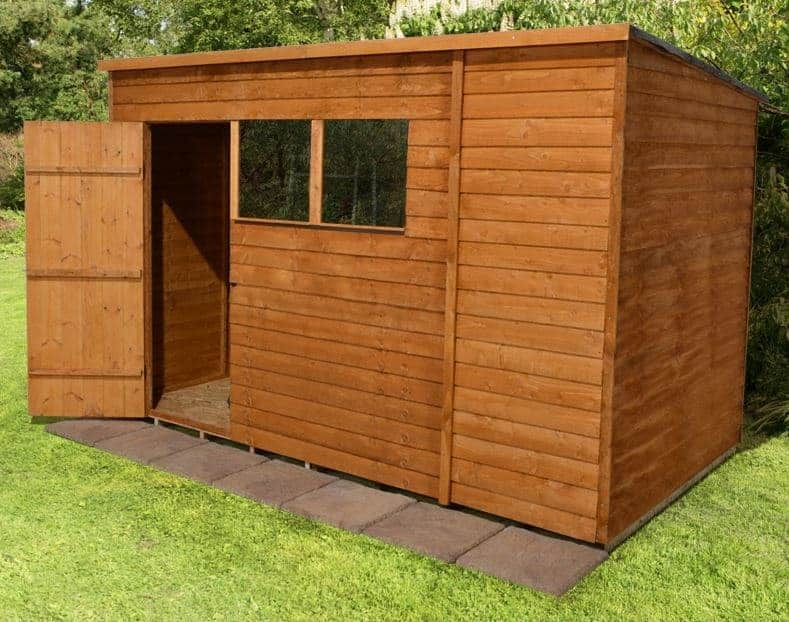 10' x 6' Shed-Plus Classic Overlap Pent Roof Shed