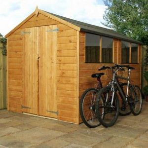 10 x 6 Waltons Tongue and Groove Apex Wooden Shed Closed Doors