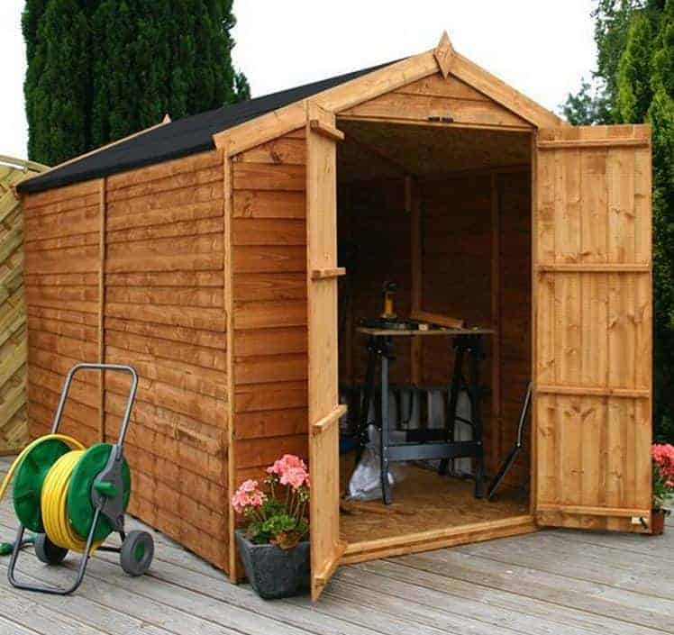 10' x 6' Windsor Overlap Apex Windowless Shed