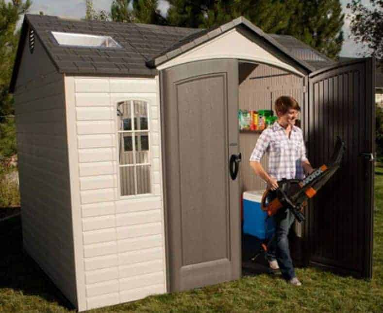 10 X 8 Lifetime Heavy Duty Plastic Shed Single