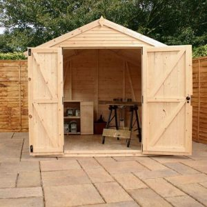 10 x 8 Mercia Ultimate Shed Double Doors Open