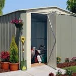 10' x 8' Shed Baron Grandale Apex Hinged Door Shed Metal Shed