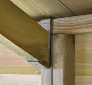 10' x 8' Shed-Plus Champion Heavy Duty Apex Double Door Shed Roof Wall Support