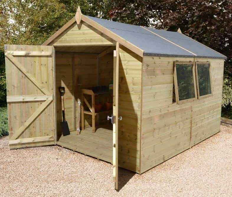 Beau 10u2032 X 8u2032 Shed Plus Champion Heavy Duty Apex Double Door Shed