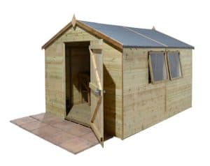 10' x 8' Shed-Plus Champion Heavy Duty Apex Single Door Shed Unpainted