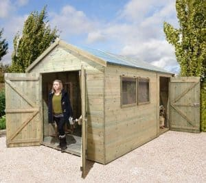 10' x 8' Shed-Plus Champion Heavy Duty Combination Double Door Shed