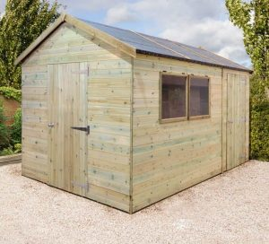 10' x 8' Shed-Plus Champion Heavy Duty Combination Single Door Shed