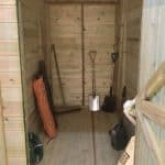 10' x 8' Shed-Plus Champion Heavy Duty Combination Single Door Shed Internal View