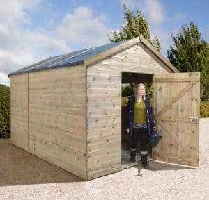10' x 8' Shed-Plus Champion Heavy Duty Combination Single Door Shed Open Door