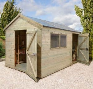 10' x 8' Shed-Plus Champion Heavy Duty Combination Single Door Shed Unpainted