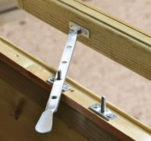 10' x 8' Shed-Plus Champion Heavy Duty Reverse Apex Double Door Shed Window Latch