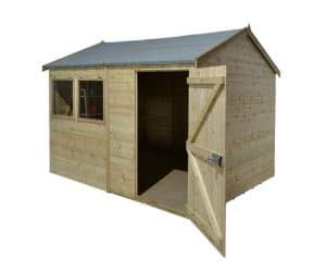 10' x 8' Shed-Plus Champion Heavy Duty Reverse Apex Single Door Shed Unpainted