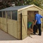 10' x 8' Shed-Plus Pressure Treated Overlap Workshop