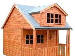 10' x 8' Traditional Swiss Cottage Playhouse Overall