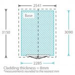 10 x 8 Waltons Overlap Apex Wooden Shed Thickness