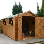 10 x 8 Waltons Premium Shiplap Double Door Apex Shed