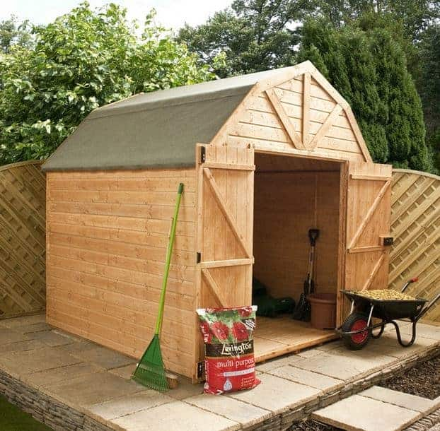 10 x 8 Waltons Windowless Dutch Barn Tongue and Groove Garden Shed