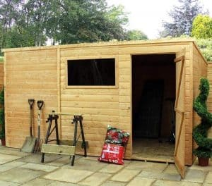 10' x 8' Windsor All-Purpose Shiplap Pent Shed Overall