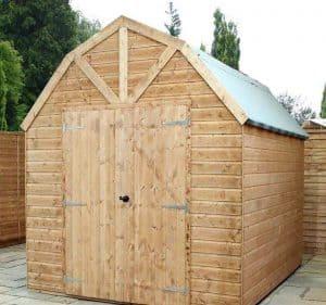 10' x 8' Windsor Groundsman Dutch Barn Shed Closed Door